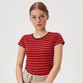 Sinsay - Koszulka w paski - Czerwony
