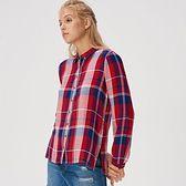 Sinsay - Wiskozowa koszula w kratę - Bordowy