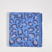 Sinsay - Wzorzysty szalik - Niebieski
