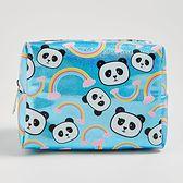 Sinsay - Błyszcząca kosmetyczka w pandy - Niebieski