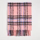 Sinsay - Różowy szalik w kratkę - Różowy