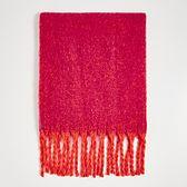 Sinsay - Jednokolorowy szalik - Różowy