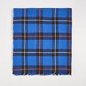Sinsay - Niebieski szalik w kratkę - Niebieski