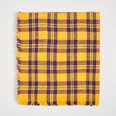 Sinsay - Żółty szalik w kratę - Żółty