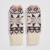 Sinsay - Rękawiczki ze wzorem - Kremowy