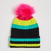 Sinsay - Kolorowa czapka z pomponem - Wielobarwny