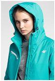 Kurtka narciarska damska KUDN302 - błękit turkusowy