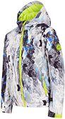 Kurtka narciarska dla małych dzieci (chłopców) JKUMN303 - allover czarno-biały