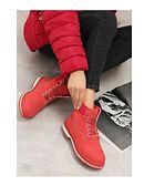 Workery damskie Born2be czerwone casual bez wzorów