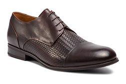 Buty eleganckie męskie Gino Rossi sznurowane z tworzywa sztucznego