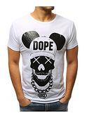 T-shirt męski Dstreet młodzieżowy biały z krótkimi rękawami