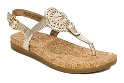 Ugg sandały damskie złote casual skórzane z klamrą bez obcasa gładkie