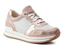 Sneakersy damskie Quazi różowe na koturnie bez wzorów wiązane
