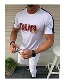 T-shirt męski biały z krótkim rękawem