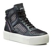 Buty sportowe damskie DKNY skórzane bez wzorów jesienne na platformie