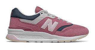 Buty sportowe damskie New Balance casualowe młodzieżowe sznurowane zamszowe bez wzorów