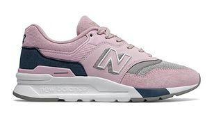 Buty sportowe damskie New Balance w stylu casual płaskie sznurowane na wiosnę
