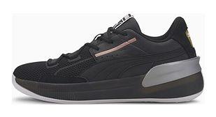 Buty sportowe męskie Puma skórzane czarne sznurowane