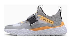 Buty sportowe damskie Puma gładkie z klamrą na płaskiej podeszwie