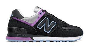 Buty sportowe damskie czarne New Balance w stylu casual gładkie płaskie wiązane