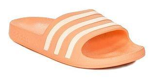 Klapki damskie Adidas pomarańczowe z tworzywa sztucznego w abstrakcyjne wzory bez zapięcia