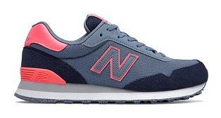 Buty sportowe damskie New Balance w stylu casual niebieskie zamszowe sznurowane
