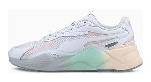 Buty sportowe damskie Puma białe bez wzorów skórzane