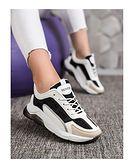 Buty sportowe damskie CzasNaButy sneakersy sznurowane na wiosnę