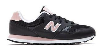 Buty sportowe damskie New Balance casualowe czarne zamszowe