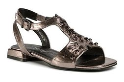 Sandały damskie bez obcasa z klamrą casual