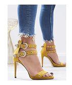 Żółte sandały damskie Multu