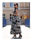 Sukienka na spacer tkaninowa