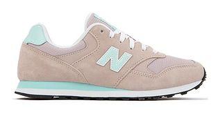 Buty sportowe damskie New Balance w stylu casual płaskie sznurowane
