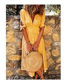 Sandbella sukienka żółta trapezowa