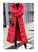 Czerwona kurtka damska IVET jesienna z kapturem z poliestru casual