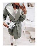 Płaszcz damski  szary