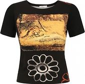 T-shirt z motywem kwiatu i lwa Potis & Verso NOEMI