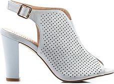 Zabudowane szare sandały damskie Monnari