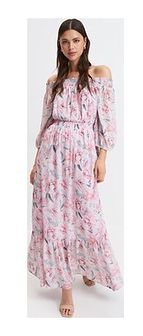 Sukienka Mohito z długim rękawem różowa