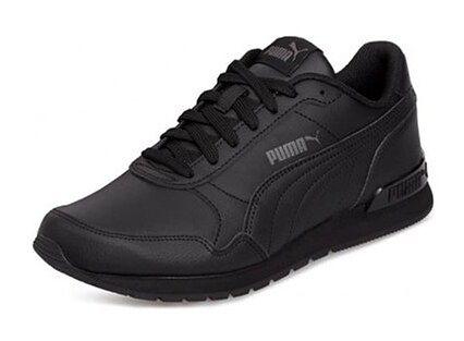 Buty sportowe męskie czarne Puma ze skóry ekologicznej jesienne