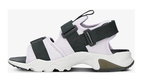 Sandały damskie białe Nike na platformie