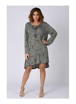 Sukienka Plus Size Company z długim rękawem dzienna casualowa mini