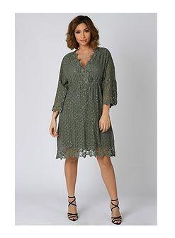 Sukienka Plus Size Company luźna mini z długim rękawem