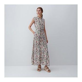 Sukienka Reserved dzienna bez rękawów z wiskozy maxi