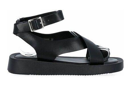 Sandały damskie Givana ze skóry ekologicznej na platformie