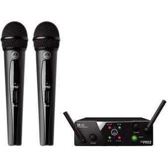 Zestaw bezprzewodowy AKG WMS40 Mini Dual Vocal Set Band-US25-A / C  z dwoma mikrofonami