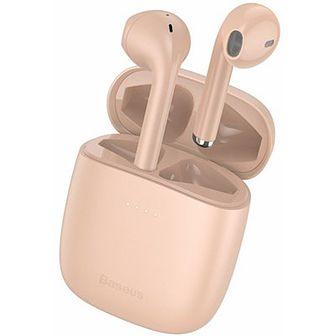 Słuchawki douszne BASEUS Encok W04 ANC Różowy