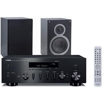 Zestaw stereo YAMAHA MusicCast R-N602 Czarny/ELAC Debut 2.0 B6.2 Czarny