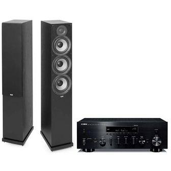 Zestaw stereo YAMAHA MusicCast R-N803D Czarny/ELAC Debut 2.0 F6.2 Czarny