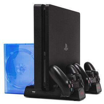 Podstawka chłodząco - ładująca FROGGIEX do PS4 Czarny